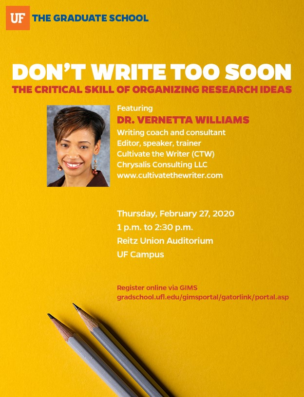 Title: Dr. Vernetta Williams Workshop - Description: E-Flyer